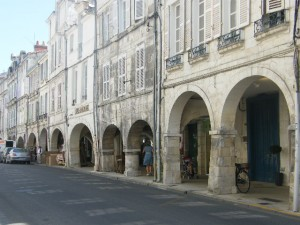The cloistered streets of La Rochelle