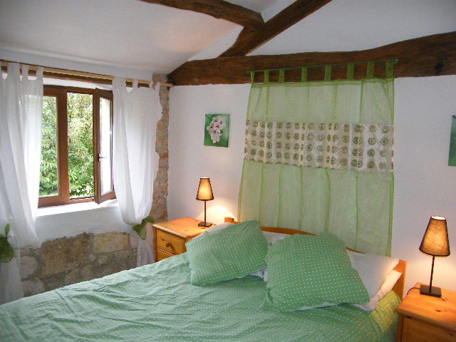 Les Boulins - Bedroom 2: Double bed with shower room