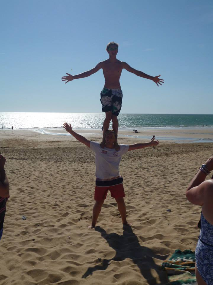 Summer 2013 -Acrobatics on the beach at Les Conches